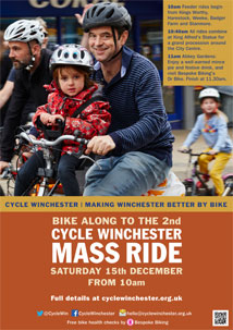 Cycle Winchester 2nd Mass Ride Poster