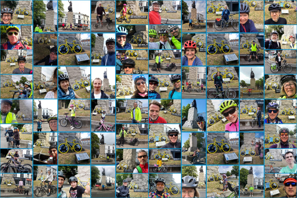 Photos of 82 cyclists
