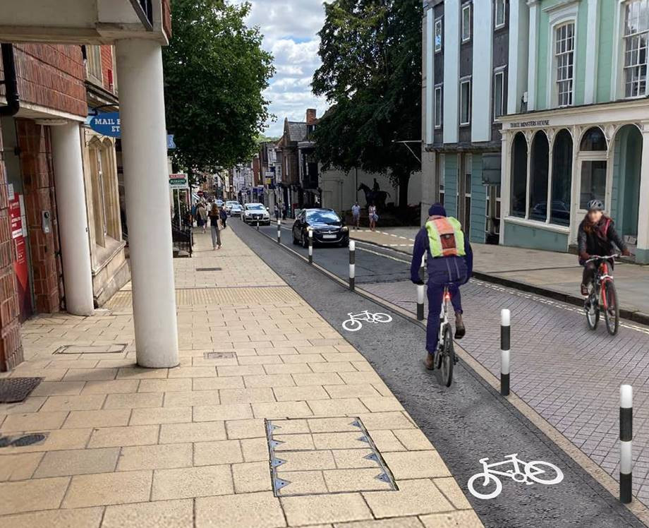 Image showing proposed High St segregated contraflow