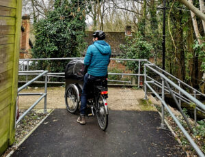 cargo bile on cycleway